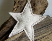 Simple rustic canvas star ornament