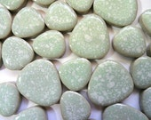 Light Green Oblong Pebble Stones for Mosaics, Crafts Supplies, Mosaics, Mosaic Supplies - DiscountMosaicSupply