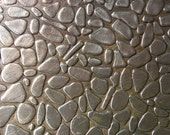 Nickel Silver Texture Metal Sheet Small Pebble Pattern 22g - 6 x 2 1/4 inches - Hammering Sheet Metalwork