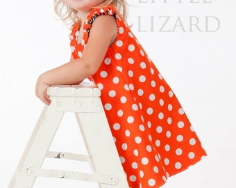 Reversible A-Line Dress, Girls Sewing Pattern, Easy Dress Pattern, Knot Dress, PDF Tutorial - EASY