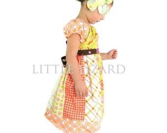 Girls Peasant Dress SEWING PATTERN, Elizabeth Claire