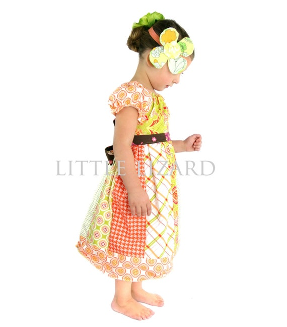 Girls Peasant Dress SEWING PATTERN, Elizabeth Claire