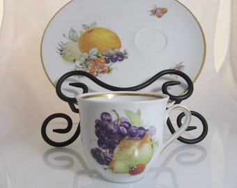 House of Goebel / Schumann Arzdero Bavaria Germany Fruit Snack Plates with Cups
