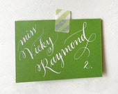 Wedding Calligraphy for Place Card, Escort Card, Name Card,Table Card