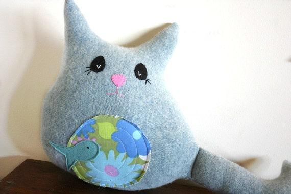 cat stuffed animal, cat stuffed toy, cat plush, cat pillow, cat decor