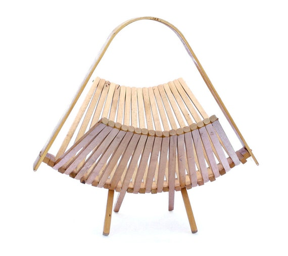 Handmade Collapsible Wooden Baskets : Vintage wooden collapsible basket by sovietvintage on etsy