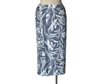 Maxi Wrap Skirt - Custom Skirt - Long Skirt - Summer wrap skirt excellent as a plus size skirt. Custom skirt. Cotton skirt.