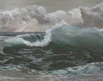 Storm At Sea Paper Giclee Print Seascape Ocean by Carol Thompson