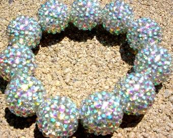 Rhinestone Ball Bracelet - Bold