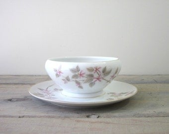Cherry Blossom China Server Gravy Sauce Boat