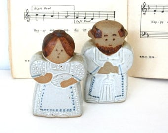 1960s Fitz and Floyd salt and pepper shakers. Mid century, figurative, couple, Japan, adorable, cute.