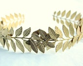 ATHENA Grecian Leaf Headpiece in Raw Brass