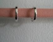 Vintage STERLING Silver Open Circle Stud Post Earrings