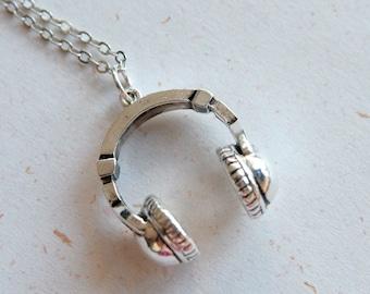 Cute headphone necklace (N308)