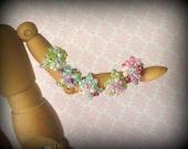 Crocheted Bead Cluster Ring for Little Girls - Custom Order Colors