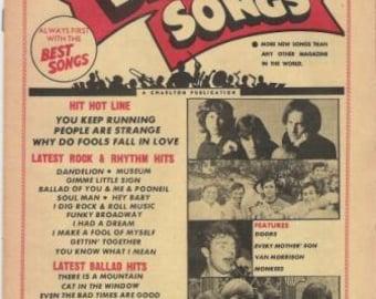 Best Songs - Three Lyrics Magazines from 1967-1968
