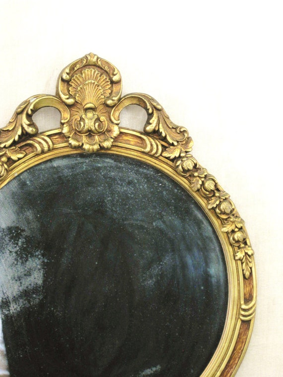 Antique Carved Wood Gilt Mirror - Queens Manor