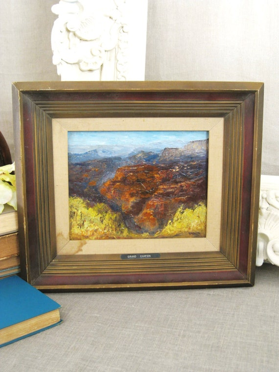 Vintage Landscape Painting Grand Canyon - Vintage Art Gallery