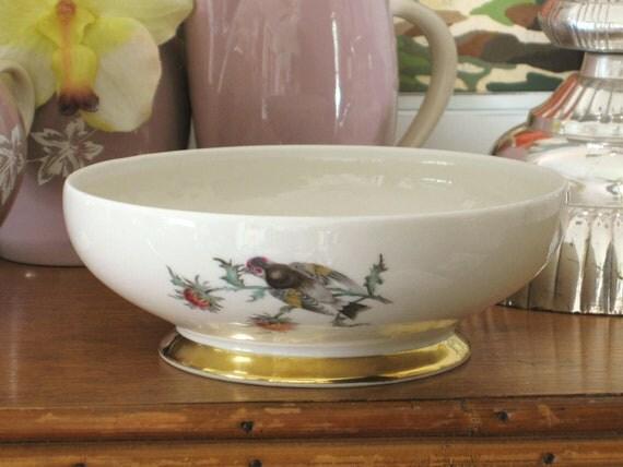 Antique Eberthal West German Porcelain Bowl - Queens Manor