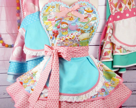 Baking Cookies and Cupcakes Apron by Dots Diner Sweet Shop -- in stock