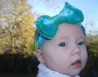Tie Dye Infant Hair Bow Headband Christmas Gift