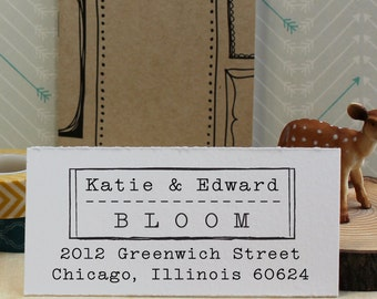 Custom Rubber Stamp - Eco Mount Address Stamp - Old Type