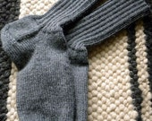 Custom order grey boot socks - Davina Wolf