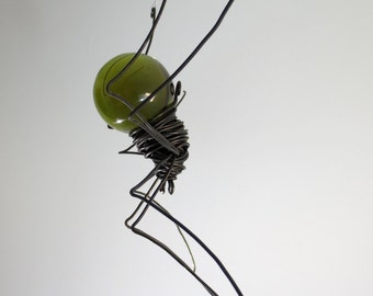 Forest Green Sun Catcher Window Spider Hanging Art, Made to Order