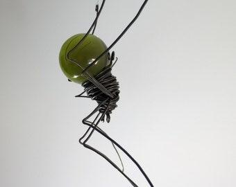 Forest Green Sun Catcher Window Spider Hanging Art, Made to Order