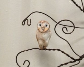 Add a Barn Owl Pet Sculpture to any Jewelry Tree