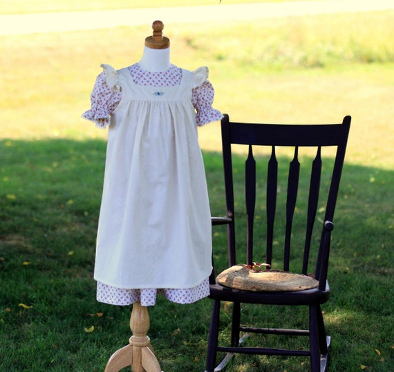 Hand Embroidered Ruffled Pinafore