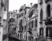 Fine Art photography, Venice, Italy, canal, black and white, blur, 8x12