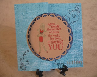 One Happy Birthday Flip Card