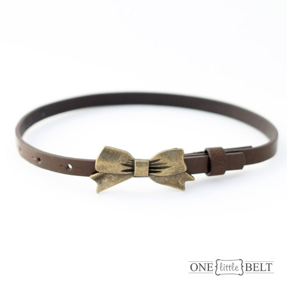 LAST IN STOCK Girl's Bow Belt- Chocolate Brown 12-24 mo