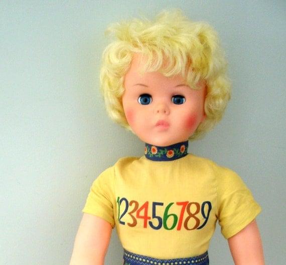 Vintage Doll Sleeping Eyes Large Blonde 1970s Doll