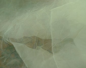 Natural White Silk Organza fabric for Nuno Felting, hand made flowers, quilting or clothes....