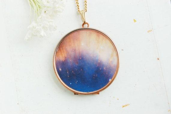 Galaxy Locket Necklace  - Large