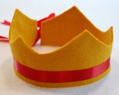 wool blend mara felt crown with adjustable ribbon tie. avail in 21 colors (new colors!). as seen on etsy's front page.