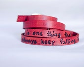 I will always keep falling in love with you - Ultra Long Leather Wrap Bracelet