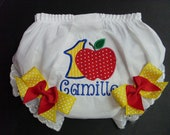 Custom Bloomers..SNOW WHITE INSPIRED bloomers ..any color...any theme...diaper cover...dress up..matches tutu set