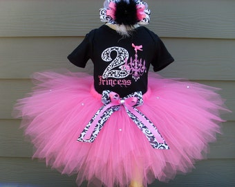 Custom Tutus...RHINESTONE RICHES tutu set..size 3,6,9,12,18,24 months and 2T,3T,4T,5T,6T years,costume...birthday tutu, chandelier,damask
