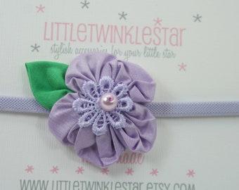 Single silk  flower headband