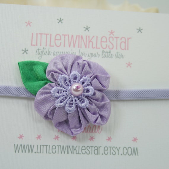 Single silk  flower headband
