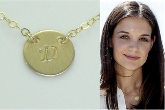 Gold Initial Necklace-Celebrity Style