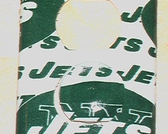 New York Jets Outlet Cover Plate with Child Safety Plugs