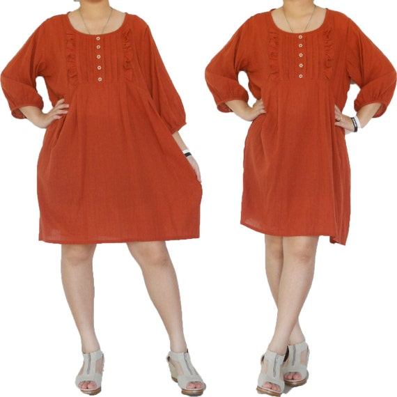 SALE 30% off -  Cotta  Blouse or Short Dress XL to 3X