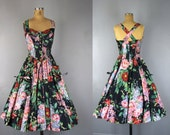 vintage 1980s cotton floral sundress  l  Evermore dress