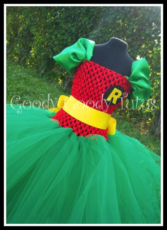 ROCKIN ROBIN Batman and Robin Inspired Tutu Dress - Large 4-6t