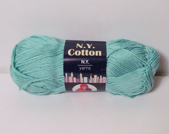 N.Y. Yarns 100% Cotton Mercerized Yarn Color No. 006 MINT DISCONTINUED