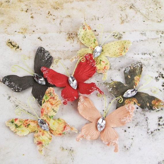 BRAND NEW: Tea-Thyme Paper  Butterflies - Papillons